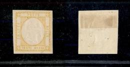 10118 NAPOLI - PROVINCE NAPOLETANE - 1861 - 20 Grana Giallo (23) Nuovo Con Gomma - Leggera Piega Centrale (750) - Stamps