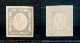 10120 NAPOLI - PROVINCE NAPOLETANE - 1861 - 50 Grana Grigio Perla (24) - Splendido (70) - Unclassified