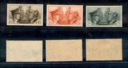10587 REGNO - 1941 - Fratellanza D'Armi Non Emessi (457A/B/C) -  Serie Completa Di 3 Valori - Traccia Di Linguella (130) - Stamps