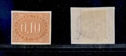 10656 REGNO - SERVIZI - 1869 - Segnatasse - 10 Cent Prova D'Archivio (P2) - Senza Gomma (350) - Stamps