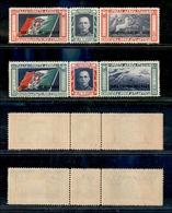 11285 COLONIE - EGEO - 1933 - Trittici Crociera Nord Atlantica (28/29-Aerea) - Leggermente Linguellati (200) - Stamps