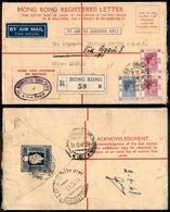 12105 ESTERO - HONG KONG - HONG KONG - Busta Raccomandata Da 25 Cent Con Complementari (151+153 Coppia) - Per Milano Del - Unclassified