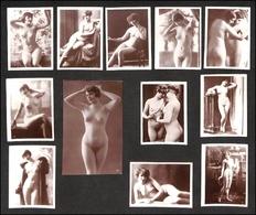 12534 Fotografie - Nudi Femminili - Serie Di 11 Fotografie D'epoca Formato Piccolo + 1 Formato Cartolina - Stamps
