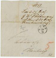 1849 Schöner Brief Aus LEER (K1) Nach Oldenburg - Mit Währungsumrechnung In Schwaren - Inhalt - [1] Prefilatelia