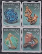 USA  - Mineralen / Minerals / Minéraux / Mineralien - XX - Michel 2315/2318 - Cote 3.50 - Neufs