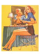 Pin Up De Edward D'Anconna: What A View 1950 (2 Scans) - Pin-Ups