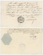 Canton BERN Suisse BOGGENBURG Certificat De Bonne Conduite Négociant Papier Timbré - Documenti Storici