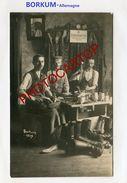 CORDONNIERS Militaires-BORKUM-CARTE PHOTO Allemande-Guerre 14-18-1 WK-Militaria-Allemagne- - War 1914-18