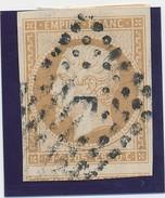 10 C N° 13 Bistre Fond Ligné TB. - 1853-1860 Napoléon III