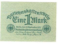Germany 1 Mark 1922 UNC - [ 3] 1918-1933 : Weimar Republic