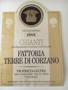 6311 - Chianti 1983 Fattoria Terre Di Corzano Italie - Etiquettes