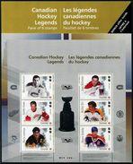 Canada 2017 Hockey NHL Legends Large Size Souvenir Sheet Of 6v MNH - Hockey (Ice)