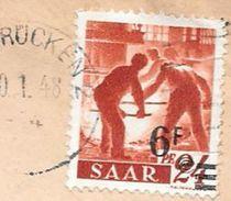 SAAR SAARBRUCKEN CIRCULATED ENVELOPE TO STRASBOURG - ELS YEAR 1948 VOIR SCAN - 1947-56 Gealieerde Bezetting