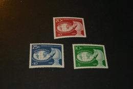 K13453- Set MNH Netherlands Antilles- 1962- SC. B55-57- Int. Candidates Chess Tournament - Willemstad - Schaken