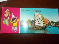 B659  Libretto Hong Kong Con Otto Cartoline Cm22,5x10 - Cina (Hong Kong)