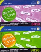 Saudi Arabia, Marhaba Prepaid Cards, 10 & 20 Riyal - Saudi Arabia