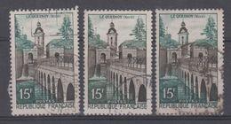 FRANCE - 1106 Obli (varietées, 1 Ex Dome Vert + 1 Ex Feuillage Brun + Normal) - Errors & Oddities