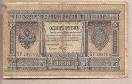 Impero Russo - Banconota Circolata Da 1 Rublo P-1a.01 - 1898 - Russia