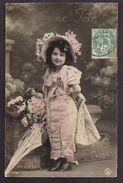 CPA Enfant Fillette Coiffée Et Habillée Avec élégance En Femme Ombrelle - Pretty Girl - Photo - Portraits