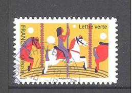 France Autoadhésif Oblitéré N°1433 (La Fête Foraine - Manège De Chevaux De Bois) (cachet Rond) - France