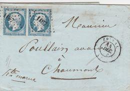 France Lettre D'Epinal 1854 - Marcophilie (Lettres)