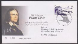 Franz Liszt 200. Geburtstag FDC Noten Musiker Komponist - Musik