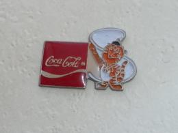 Pin's COCA COLA, PARTENAIRE DES J.O. DE SEOUL - Coca-Cola