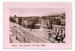 MESSINA - CORSO GARIBALDI E VIA CESARE BATTISTI   VIAGGIATA FG - Messina