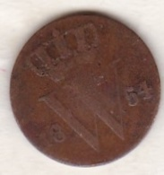 Netherlands.  1/2 Cent 1854 . William III . KM# 90 - [ 3] 1815-… : Royaume Des Pays-Bas