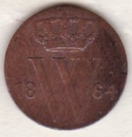 Netherlands.  1/2 Cent 1864 . William III . KM# 90 - [ 3] 1815-… : Royaume Des Pays-Bas