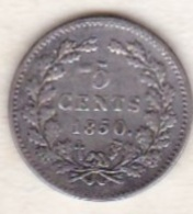 Netherlands.  5 Cents  1850 . William III . Argent . KM# 91 - 1849-1890 : Willem III