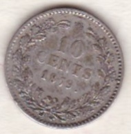 Netherlands.  10 Cents 1879 . William III. Argent . KM# 80 - 1849-1890 : Willem III