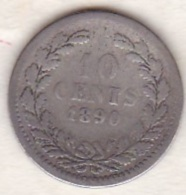 Netherlands.  10 Cents 1890 . William III. Argent . KM# 80 - [ 3] 1815-… : Royaume Des Pays-Bas