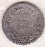 Netherlands.  10 Cents 1890 . William III. Argent . KM# 80 - 1849-1890 : Willem III