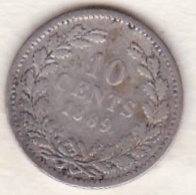 Netherlands.  10 Cents 1889 . William III. Argent . KM# 80 - [ 3] 1815-… : Royaume Des Pays-Bas