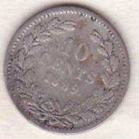 Netherlands.  10 Cents 1889 . William III. Argent . KM# 80 - 1849-1890 : Willem III