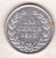 Netherlands.  10 Cents 1893 . Wilhelmina I. Argent . KM# 116 - [ 3] 1815-… : Royaume Des Pays-Bas