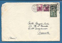 1950 BUSTA PER L'ESTERO MARSEILLE CON 15L. CINQUANTENARIO BIENNALE DI VENEZIA - 6. 1946-.. República