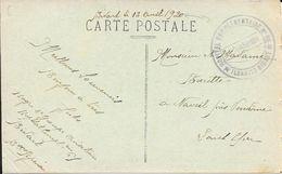 CACHET HOPITAL COMPLEMENTAIRE N° 86 - BIARRITZ BIDART  13.4.1920 - Postmark Collection (Covers)