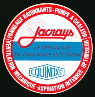AUTOCOLLANT, STICKERS : JACRAYS, Equinoxe, Le Spécialiste Du Chauffage électrique, Pompe à Chaleur, Panneaux Rayonnants - Autocollants
