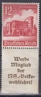 DR S 262 Postfrisch **, Winterhilfswerk: Bauwerke 1940 - Zusammendrucke