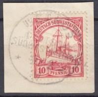 Deutsch SÜDWESTAFRIKA 26 A, Gestempelt Auf Briefstück , Kaiseryacht 1906 - Colony: German South West Africa