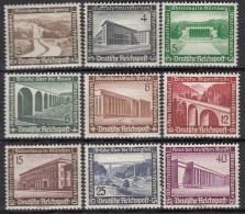 DR  634-642, Postfrisch */**, Winterhilfswerk: Moderne Bauten 1936 - Ungebraucht