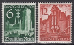 DR  714-715, Postfrisch **, Wiedereingliederung Danzigs In Das Deutsche Reich 1939 - Ungebraucht