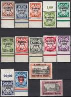 DR  716-729, Postfrisch */**, Freimarken Von Danzig Mit Aufdruck 1939 - Duitsland