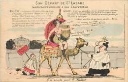 POLITIQUE SATIRIQUE ET PROSTITUTION SON DEPART DE SAINT LAZARE - Postkaarten
