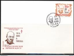 Makedonija Macedonia MK 007 First Day Cover Zwangszuschlags Against Tuberculosis Personalities Robert Koch 1995 - Macedonia