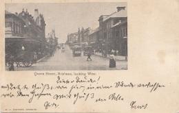 BRISBANE - Queen Street, Locking West, Karte Gel.1904 V. Brisbane N. Glauch ?, Abgelöste Marken - Brisbane