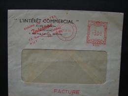 EMA. 42. Affranchissement Mécanique De  La Chaine De Ventes Internos à Huy. 1964 - Franking Machines