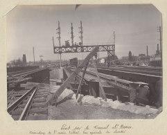 Ancien Pont Du Canal Saint Denis, Démolition, Avril 1912. Rue A. Croizat.Quadruplement Des Voies Paris. Photo Originale - Trains